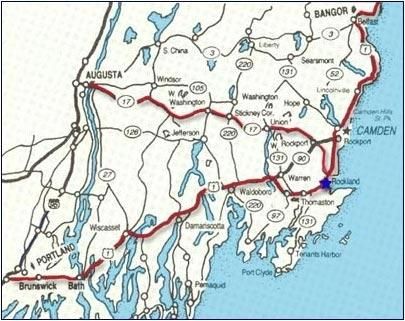 map of maine. Detailed Map Of Midcoast Maine